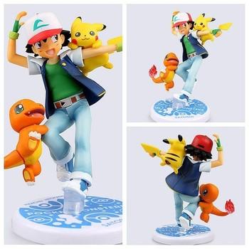 Plus Récent Dessin Animé Pokemon Figurines Sacha Pikachu Pvc Modèle Jouet Buy Pokémonfigurines Pokémonfigurines De Dessin Animé Product On