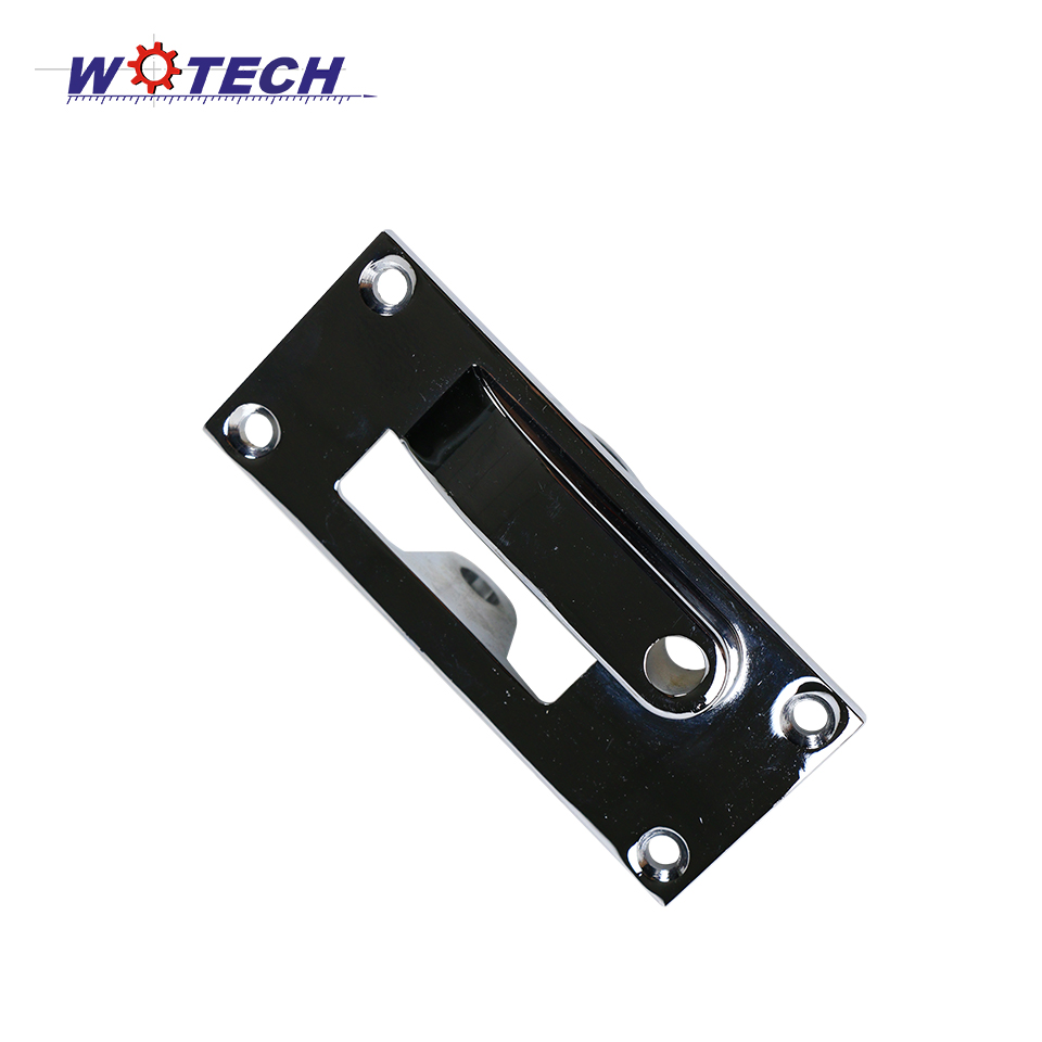 Customized High Quality Aluminum Die Casting Door Handle with Chrome Plated Powder coating