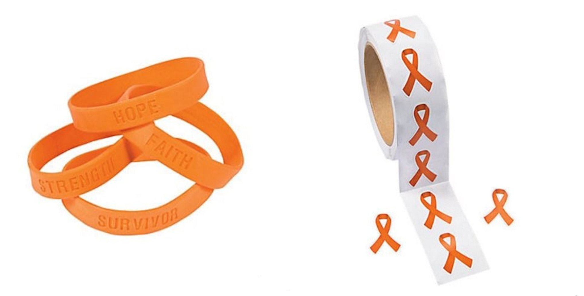 leukemia pin hunger orange ribbon bracelet treatment self humane awareness represents injury
