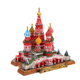Custom made 3D miniature famous building statue resin tourist souvenir gifts russia st. basil's cathedral model