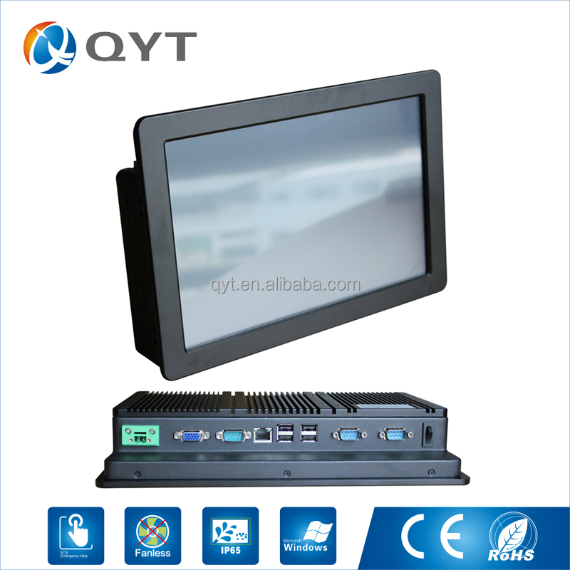 "Best service 4-wire resistive touchscreen fanless mini embedded Linux 11.6"" tablet pc panel"