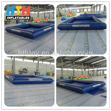 dark blue floating inflatable boat swimming pool
