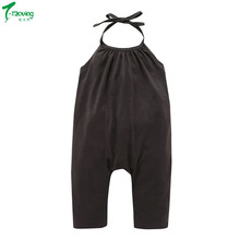 2018 Summer Gary Rompers Children Jumpsuit Toddler Kids Baby Girls Strap Sleeveless Romper Jumpsuit Pants Outfit Clothes