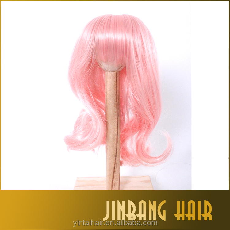 New style Bjd sd doll wig 1/3 1/4 1/6 high temperature wire long wavy BJD Super Dollfile Hair Wig