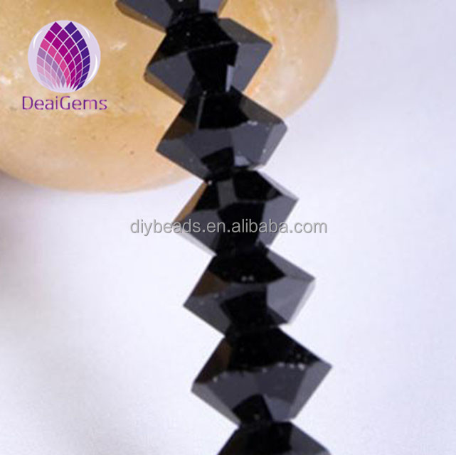 4*6mm bicone black crystal beads for jewelry