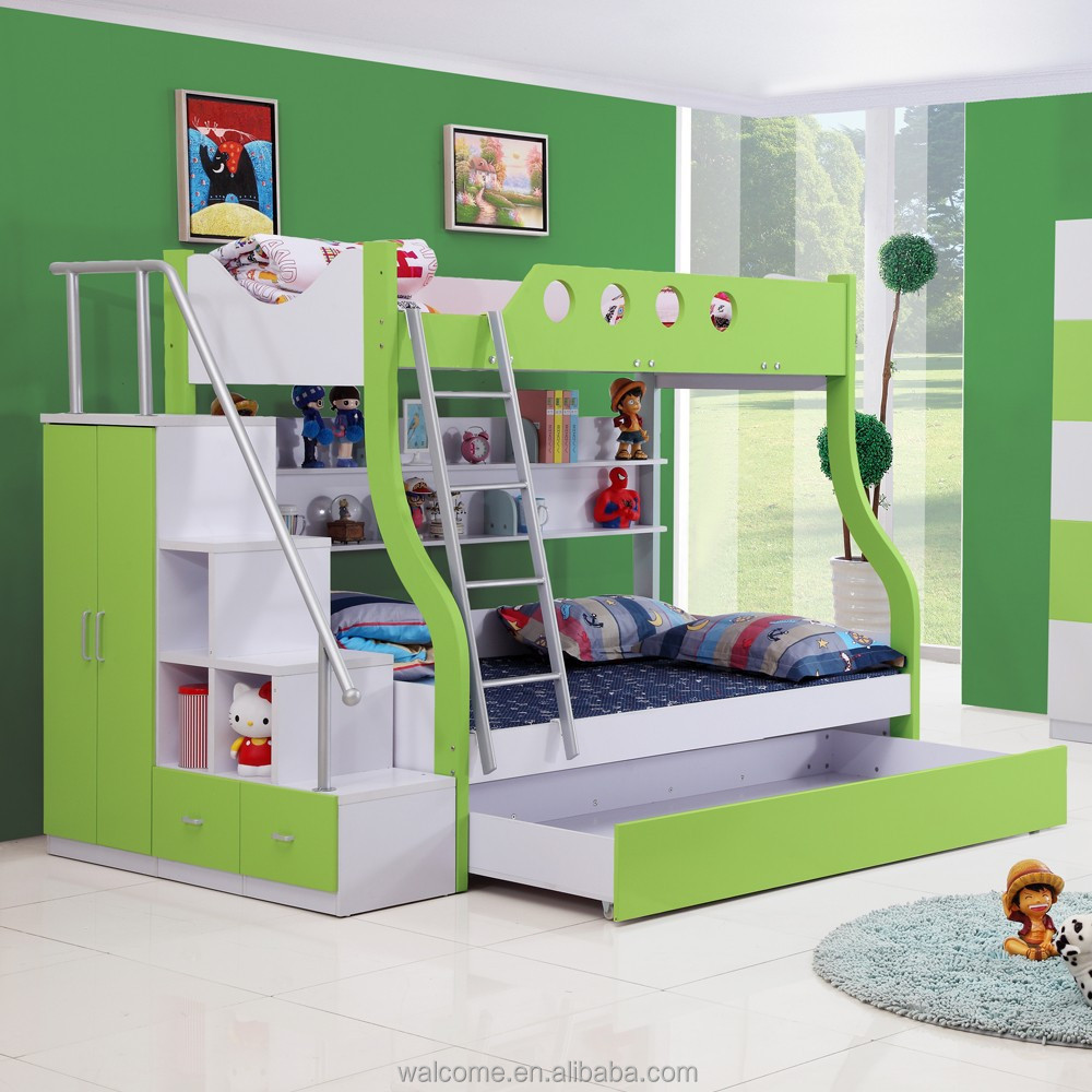 children bunk bed with desk functional bunk triple beds