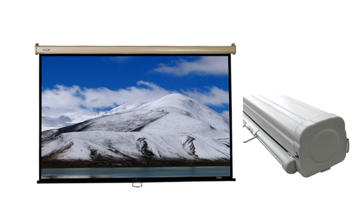 Cheapest office school projector screen manual screen multimedia projector and screens OEM