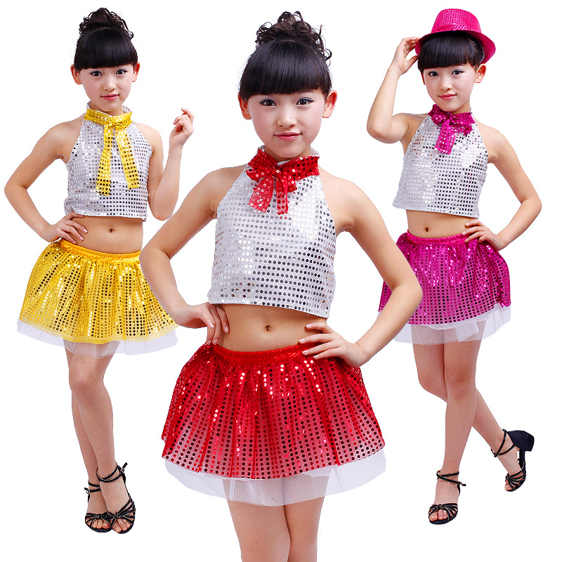 7dc72da39a7a Buy Modern dance sequined costumes children six one dance dance ...