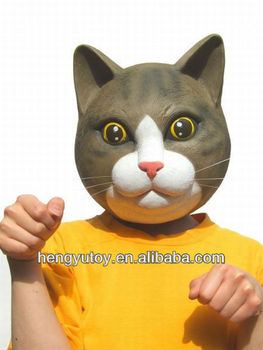 Gray Latex Fur Overhead Kitty Cat Mask Costume New  sc 1 st  Alibaba & Gray Latex Fur Overhead Kitty Cat Mask Costume New - Buy Cat Mask ...
