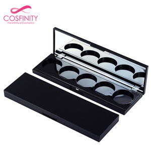New product popular factory empty cosmetics packing boxes black makeup empty eyeshadow palette