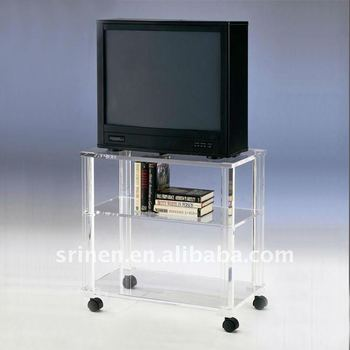 Acrylic Furniture Plexiglass TV Table Perspex Cabinet