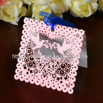 Romantic Wedding Decorationspink Love Birds Wedding Place Cards