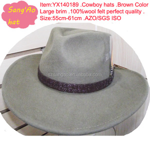 683c673f7384c Lemmy Cowboy Leather Hat