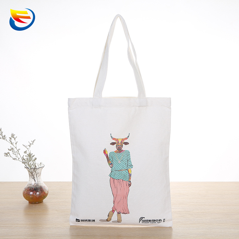 Production and supply of cotton color printing canvas bag Silk cotton and linen shopping canvas bag Portable cotton canvas bag