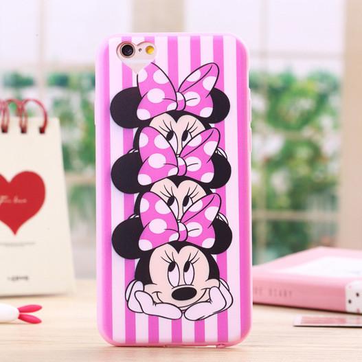 For iPhone 6 Case Cute Cartoon Minnie Mouse Soft Silicone Phone ... 44005e6d9c2