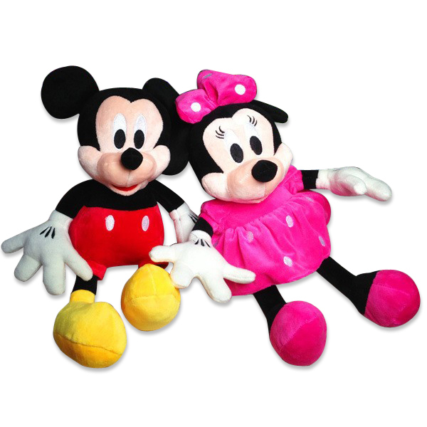 2017 Hot Sale 28 cm plush toys wholesale Mickey or Minnie doll lovers wedding doll s gift