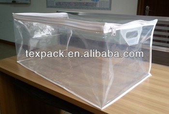 Clear Plastic Zippered Storage Bag For Bed Linen Buy