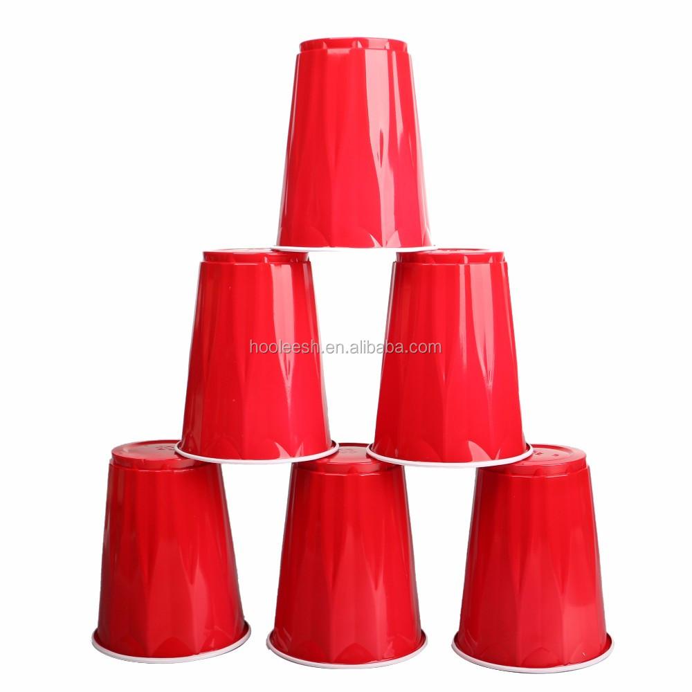 Pong de la cerveza roja de parte de la taza tazas tazas fiesta juego 50 pzs.