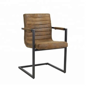 Bars vintage industrial design wholesale synthetic leather dining coffee metal chair