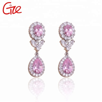 high-end vintage diamond best selling fashion jewelry anti allergy Bangkok Big gold drop earrings