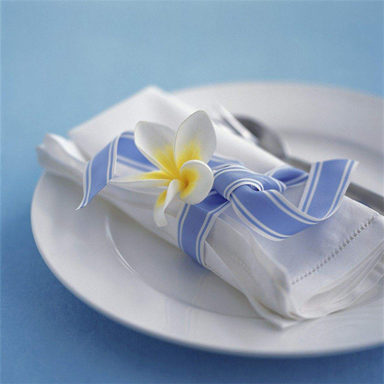 China supplier fancy reusable Square cotton dining room Plain embroidered woven napkin cloth
