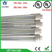 warm / cool white UL CUL t8 led tube 8ft led tube light integrated tube 8 from china supplier
