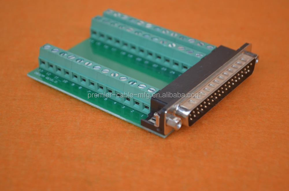 DB9 Male /& Female Signals Breakout Board Screw terminals