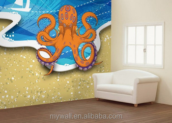 Doctor Octopus Pvc Wall Muralwater Activated Pre pasted Wall Murals
