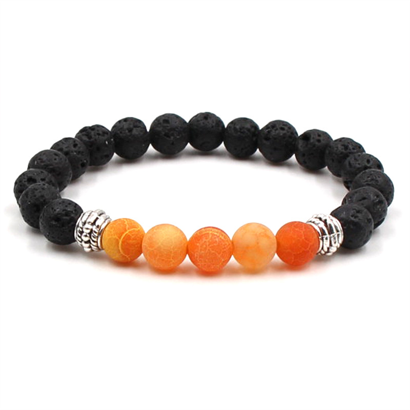 7 Styles Fashion Jewelry Frosted Stone Beads Natural Lava Stone Bracelets Protection Energy Healing Aroma Bracelet Free Shipping