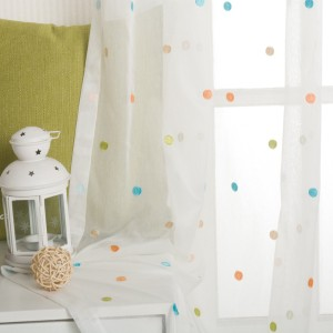 Best Selling Curtain Elegant Poly Cotton Embroidery Sheer For Window Curtain
