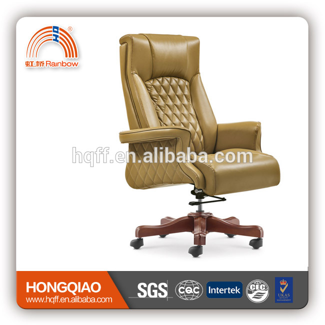 CM-B56AS high back executive pu leather swivel wooden base office chair modern office furniture