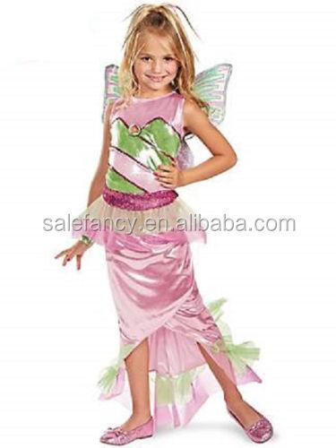 Flora Mermaid Winx Club Pink Fairy Fancy Dress Up Halloween Child Costume Qmkc-0015 - Buy Mermaid CostumeChild DressHalloween Costume Product on Alibaba. ...  sc 1 st  Alibaba & Flora Mermaid Winx Club Pink Fairy Fancy Dress Up Halloween Child ...