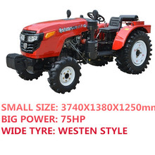 Luzhong 4x4 75hp compact tractor for greenhouse garden and vineyard