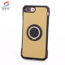 Free sample for iphone 8 plus cover case,car mount magnetic ring holder anti-shock case for iphone 8 plus braided pattern