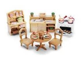 Game / Play Calico Critters Deluxe Kitchen Set, calico, critters, calico, sale, manor, cloverleaf Toy / Child / Kid