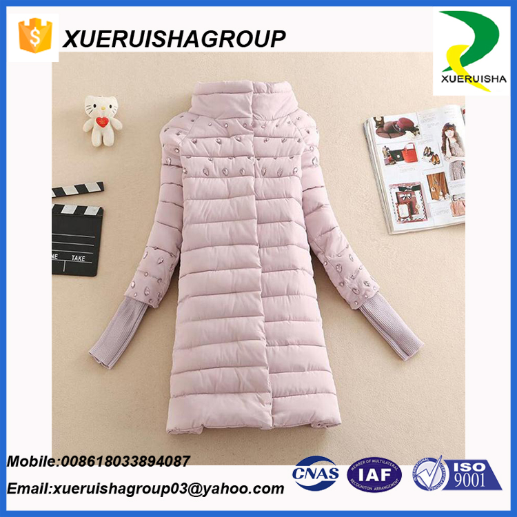 Korea fashion ultralight MD-Length down feather jacket