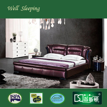 super hot sell cow leather bed base soft bed ds 730 1 buy leather bed base soft bed genuine. Black Bedroom Furniture Sets. Home Design Ideas