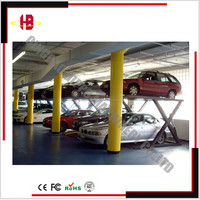 Home Garage Double level Scissor type Car Parking Lift System