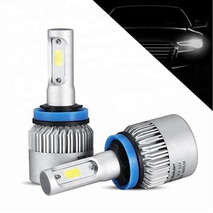 Factory Wholesale New Powerful COB Car LED Headlight S2 H4 Hi/Lo Beam 72W 8000LM Car Styling Auto LED Headlamp Xenon White 6000k