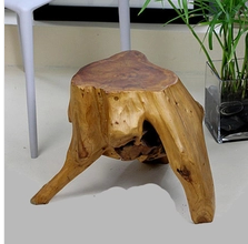 Carved Stool fir stump natural wood coffee table stool stool stool flower root tea table with wooden pier
