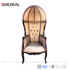 Hotel Decorative Hall Canopy Chair, outdoor lounge chair with canopy OZ-SW-108