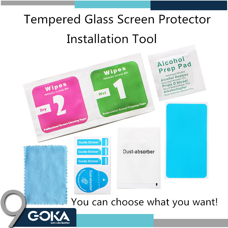 custom installation cleaning kit for tempered glass protector