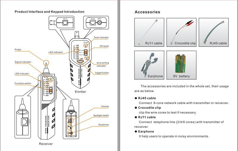 Rj45 Rj11 Rj12 Cat5 Lan Network Tool Kit Cable Tester