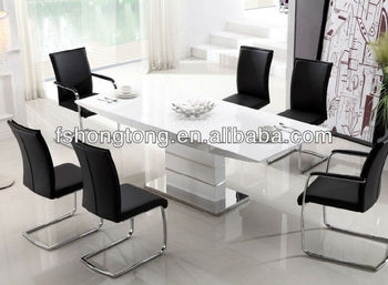 High Gloss Top Dining Table With Stainless Steel Legs/stainless Steel  Dining Table/home Part 83