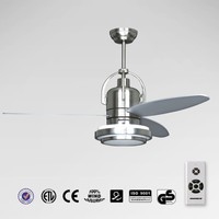 Brushed Nickel Ceiling fan with 3 blades & LED light &remote