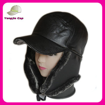 Wholesale Russia Men s Hat Leather Winter Hats With Earflaps - Buy ... 6bbcae41dfd