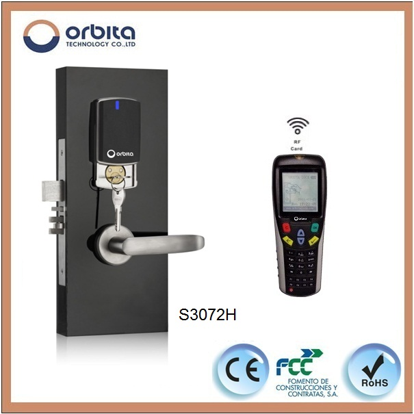 High Quality Networked Hotel Keyless Door Lock with Free Software