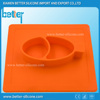 FDA approved 100% food grade silicone mat with silicone plate for kids
