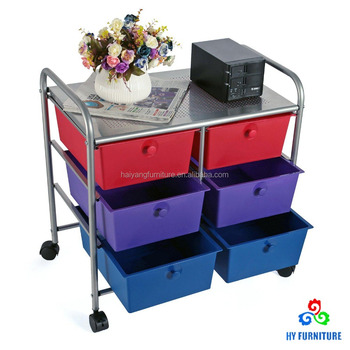 office rolling cart. Home Office Rolling Cart Steel Frame Plastic Storage Drawer Organizer With 6 Drawers T