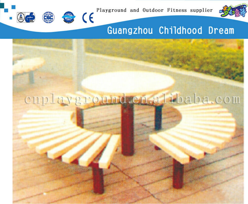 (HD-19506)Wooden picnic table and bench
